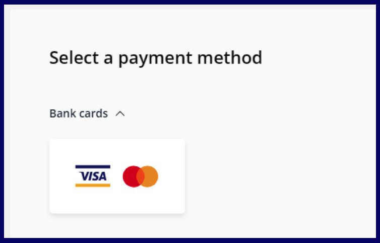 Olymp Trade bank card payment