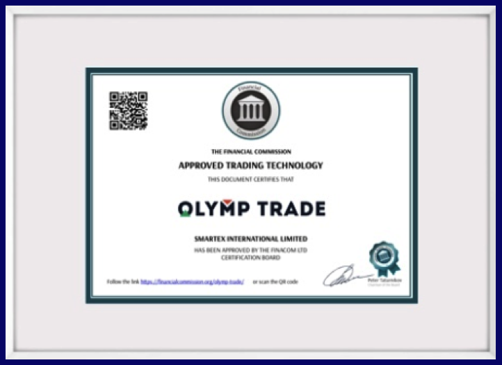 Olymptrade License