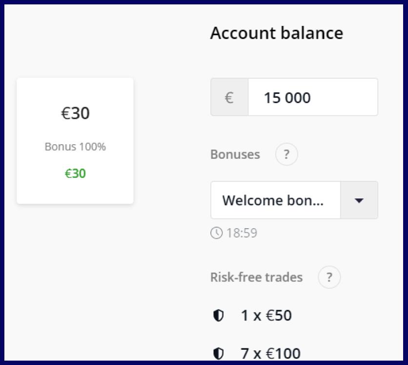 Olymptrade account balande & amount of deposit
