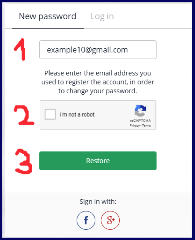 Olymptrade change password login