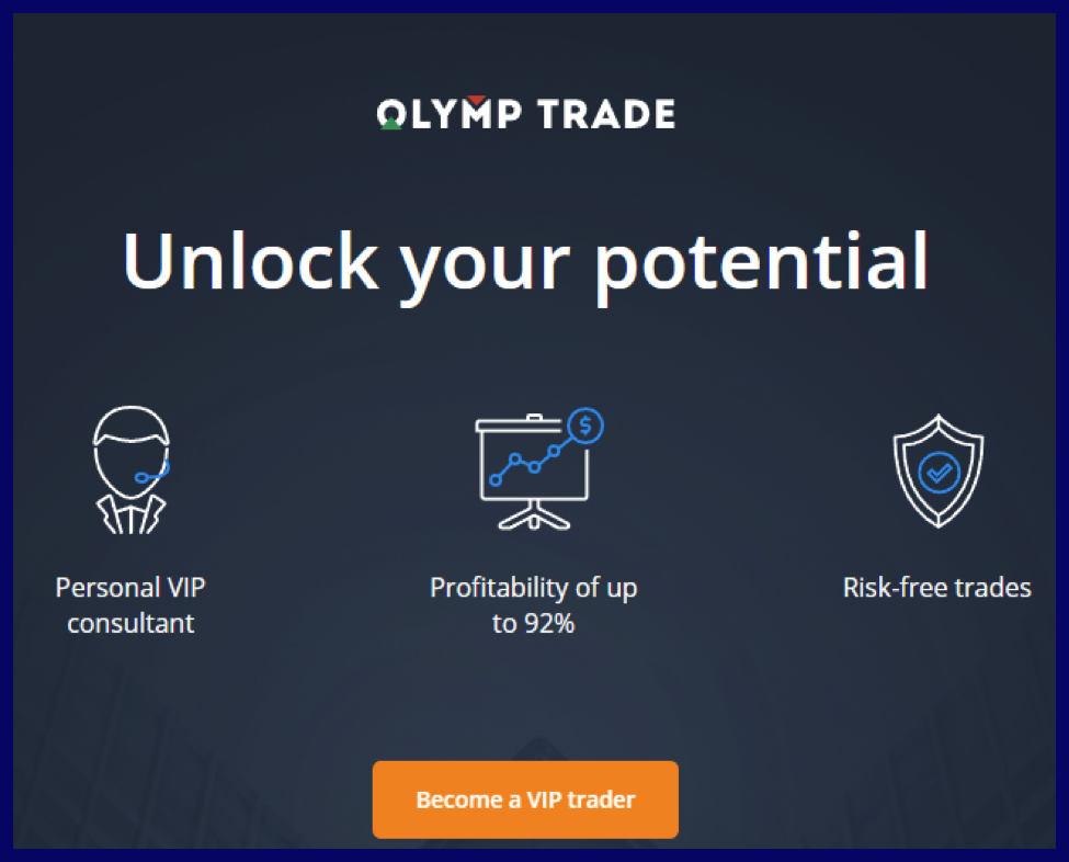 Difference between basic and VIP account on Olymptrade