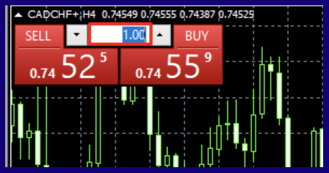 One click trading option